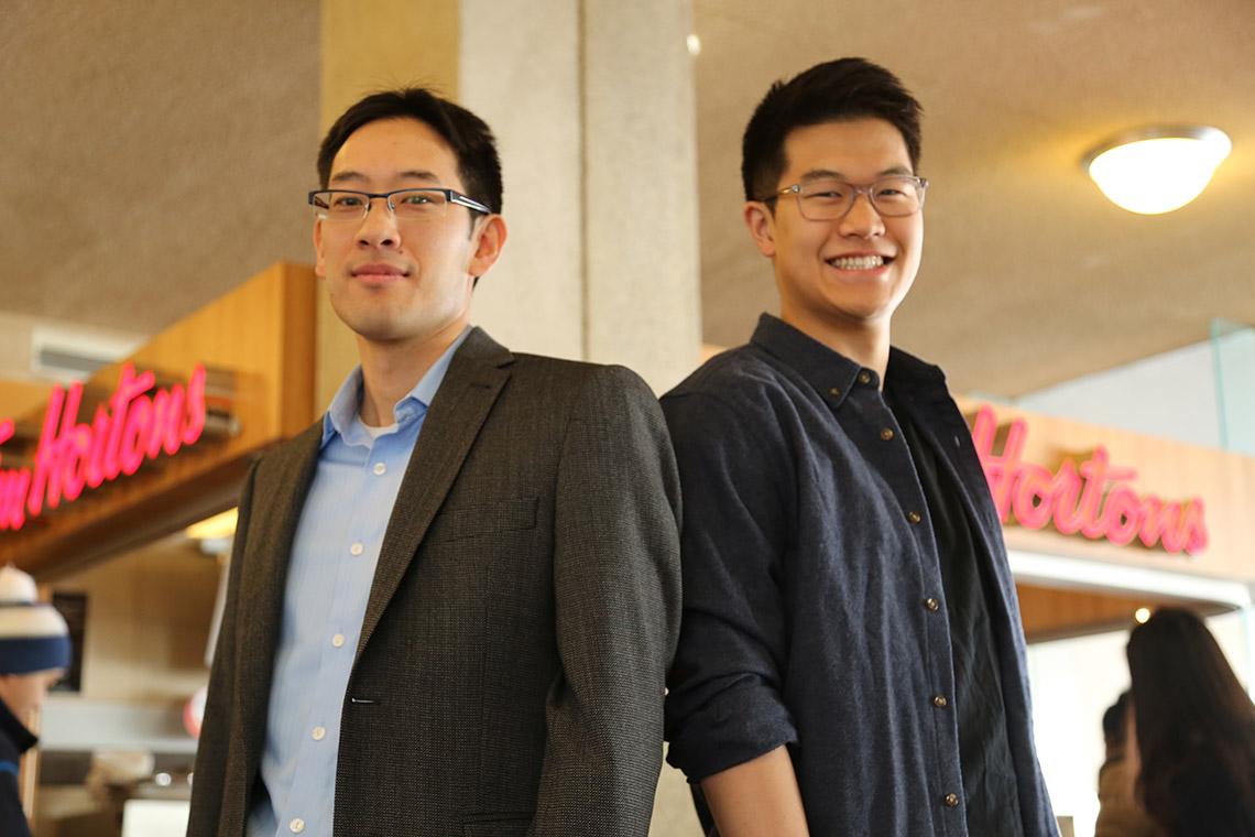 Timothy Chan, left, and Christoper Sun