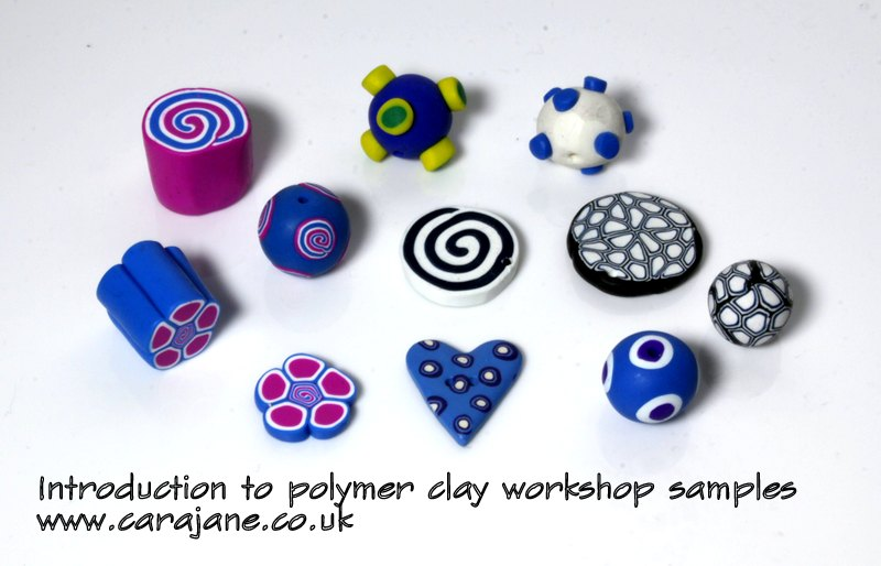 Cara Jane Introduction to Polymer clay workshop samples
