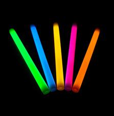Svítící tyče 36 cm 5 ks – mix barev