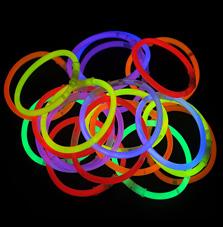 Svítící náramky 50 ks – mix barev