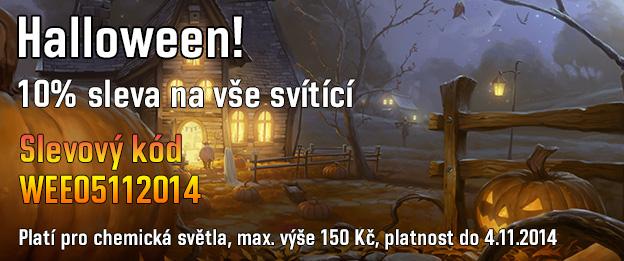 Halloween již zítra! 10% sleva na svítící. Slevový kód: WEE05112014 Platí pro chemická světla, max.výše 150 Kč.