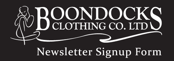 Boondocks Clothing Newsletter Registration Form