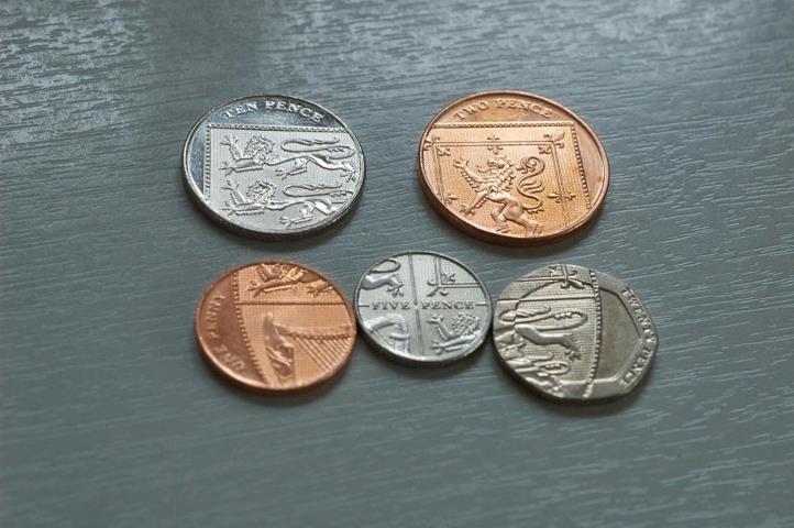 イギリスのコイン