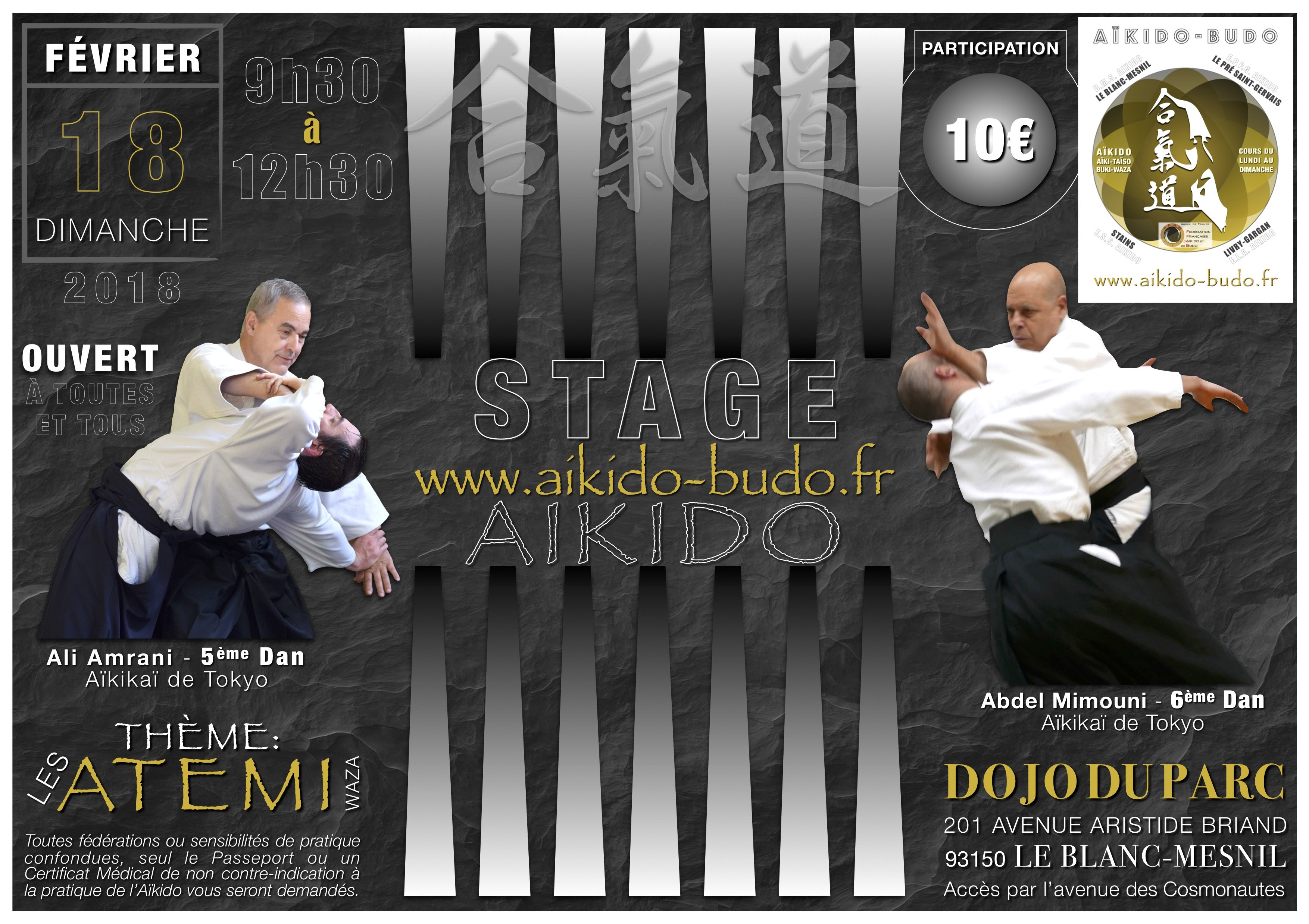 AIKIDO - STAGE - LES ATEMI EN AIKIDO - 18/02/2018