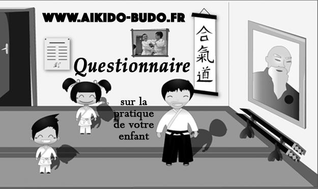 Sondage sur la pratique Aïkido de votre enfant