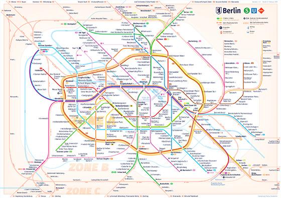Metrokaart Berlijn