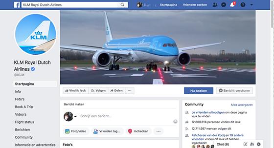 KLM op FaceBook