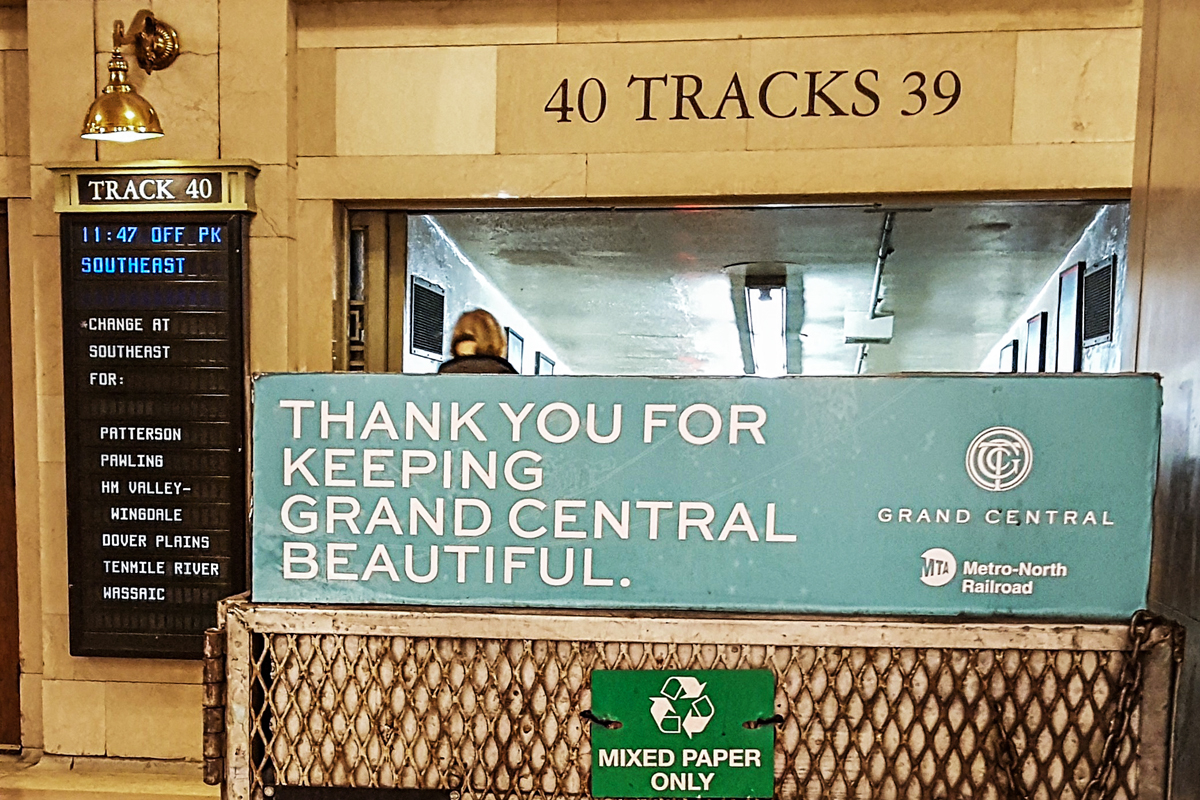 Thank you for keeping Grand Central beautiful banner