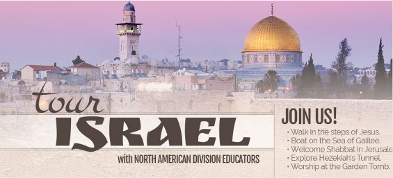 This trip will include a special emphasis on education—including visits to elementary and secondary schools in Israel and fellowship with Adventist educators from North America. Academic credit is also available. For info, contact Carol Campbell.