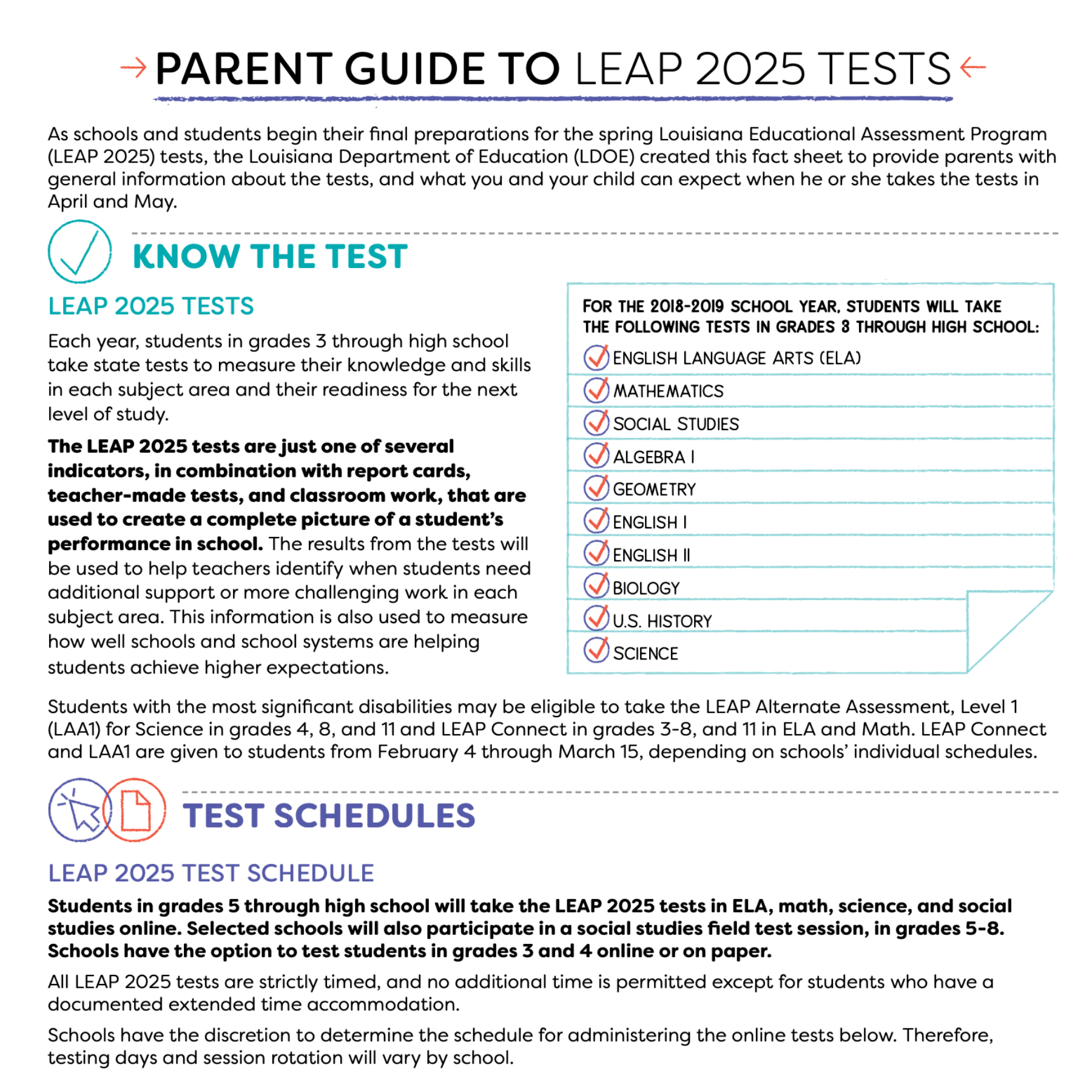 parent guide to LEAP