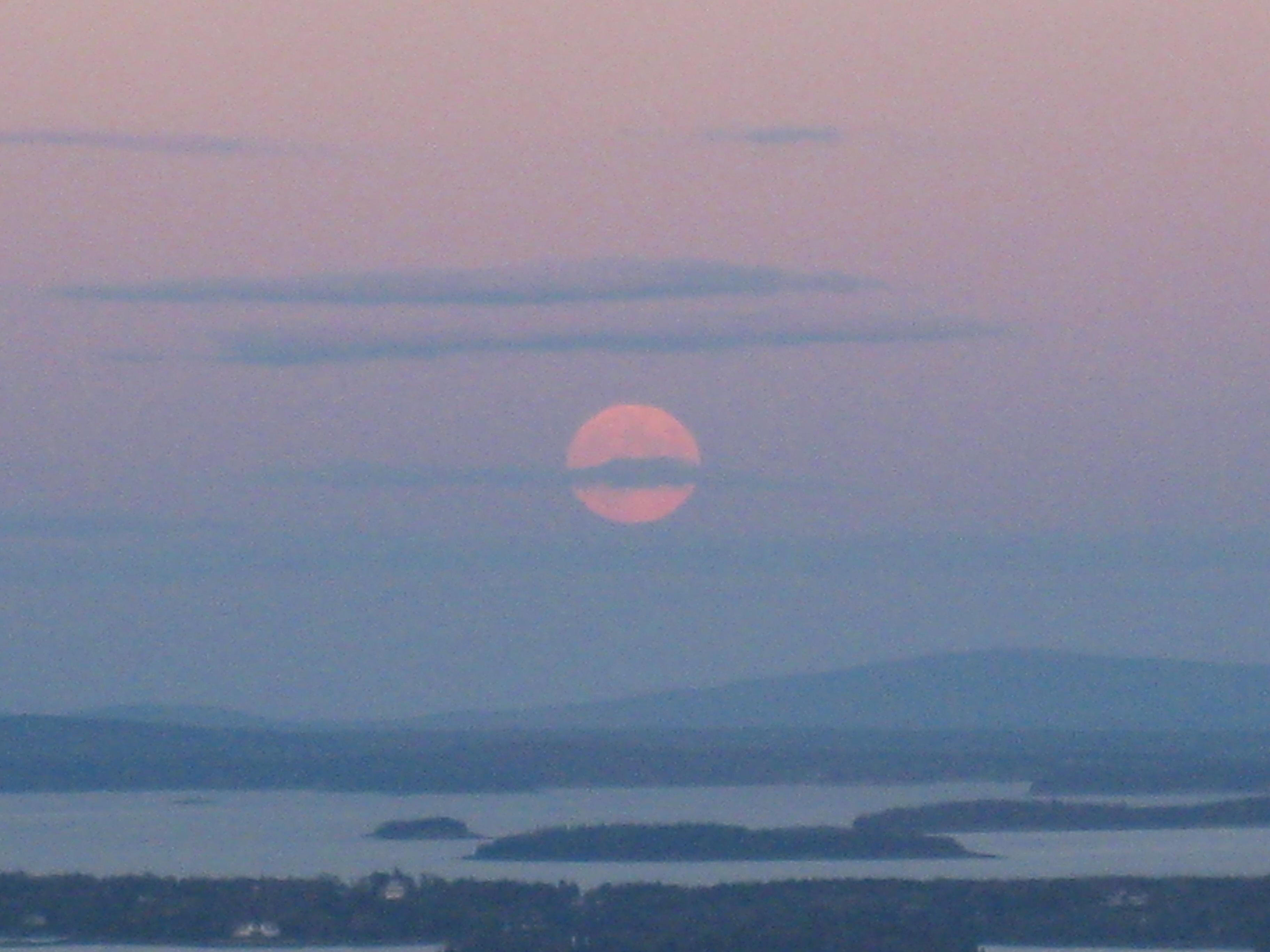Rising pink moon