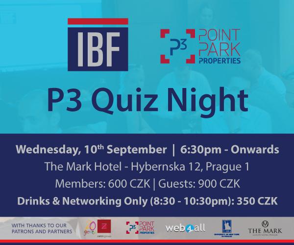 P3 Quiz Night   Wednesday, 10th September   The Mark Hotel