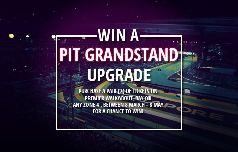 Pit Grandstand Ticket Upgrade