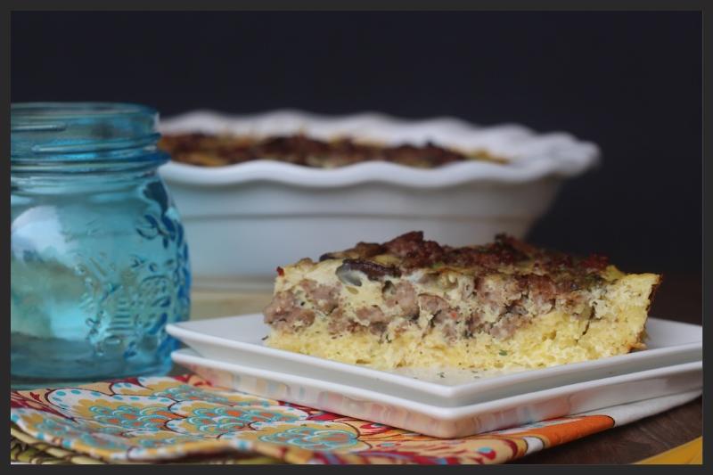Spaghetti Squash Crusted Quiche