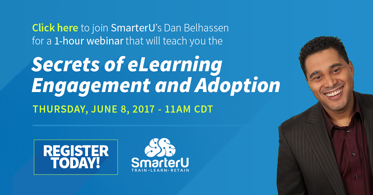 Secrets of eLearning Engagement and Adoption Webinar - SmarterU LMS - Learning Management System