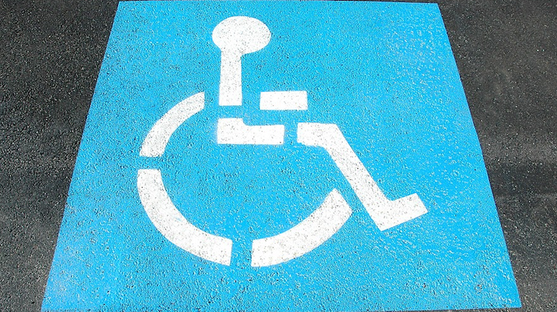 Picture of parking bay for wheelchair users