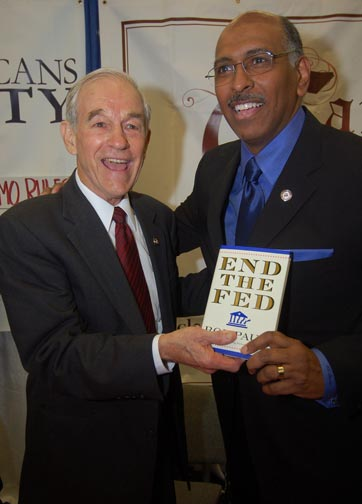 Ron Paul with Michael Steele