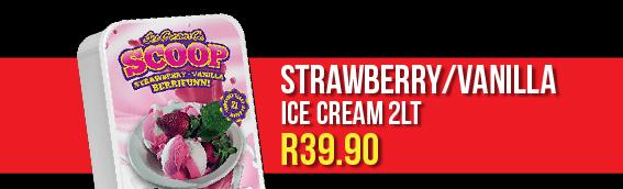 Strawberry/Vanilla Ice Cream