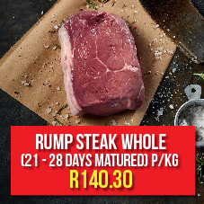 Rump Steak  Whole