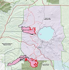 Crate Lake Wildfires