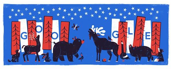 Google Doodle July 4, 2017