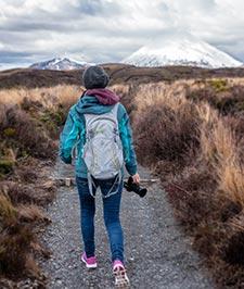 Hiking in Tongariro National Park, New Zealand