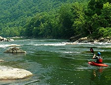 Kayaking the New River in West Virginia