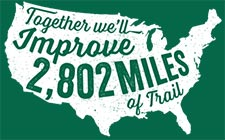 Improve 2802 miles of trails