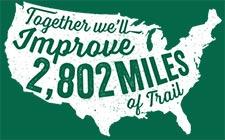 Improve 2802 miles of trails