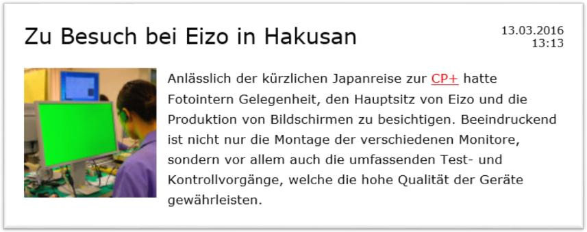 Reportage fotointern.ch