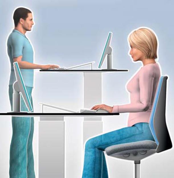 Arbeiten am Bildschirm – Entspannt statt verspannt