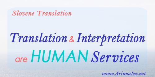 Translation & interpretation are HUMAN services.