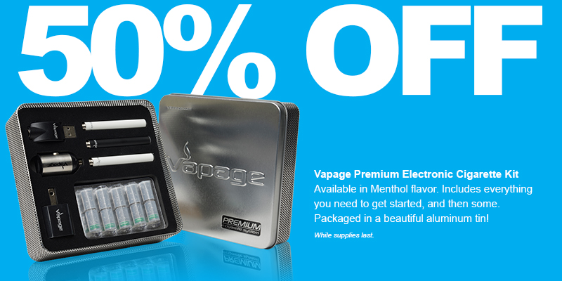 Save 50% on Vapage Premium Kit