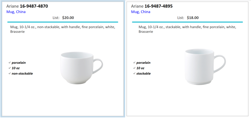 Spec Search Disabled results for a brass mug