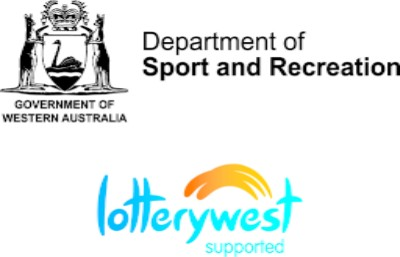 Logos for Department of Sport and Recreation and Lotterywest