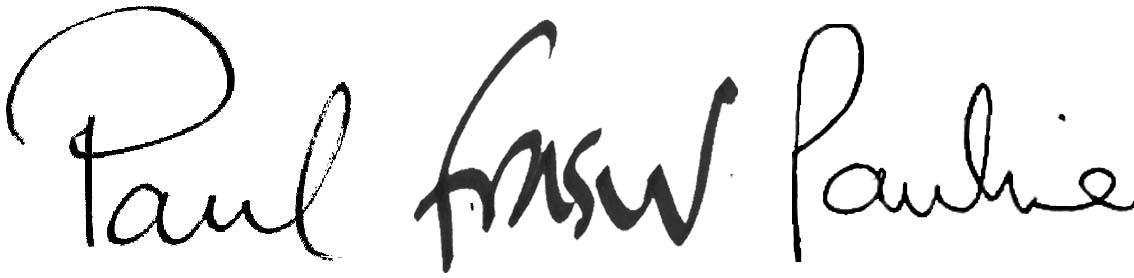 Paul Fraser Signature