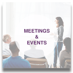 View Meetings & Events Button