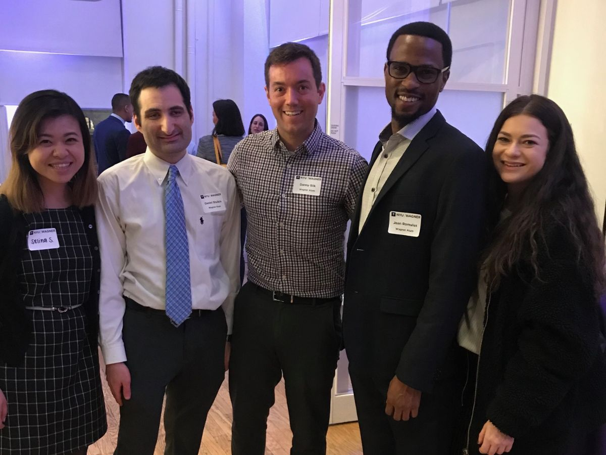 Group of alums at a reception