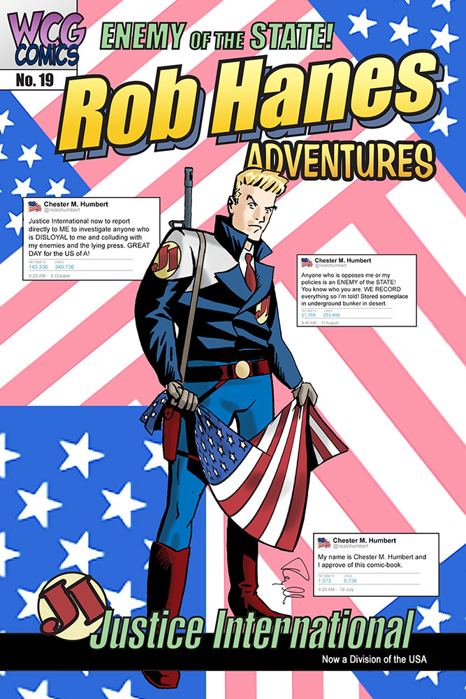 Cover to Rob Hanes Adventures #19