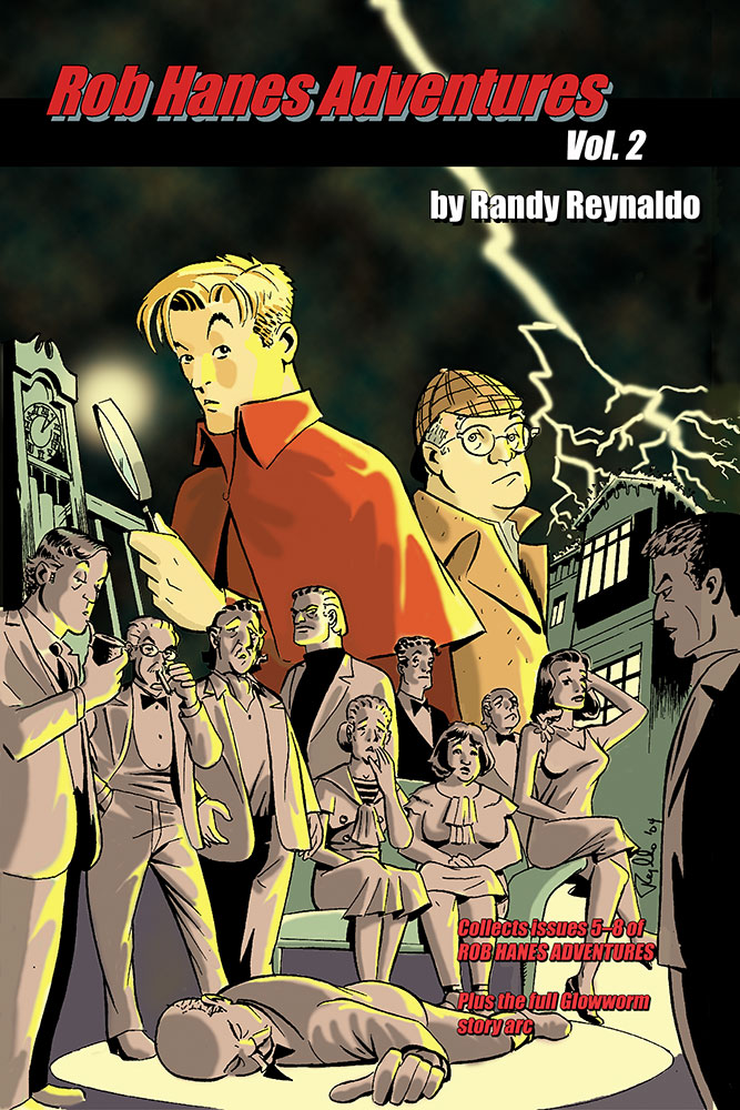 Cover to Rob Hanes Adventures, Vol. 2 trade paperback