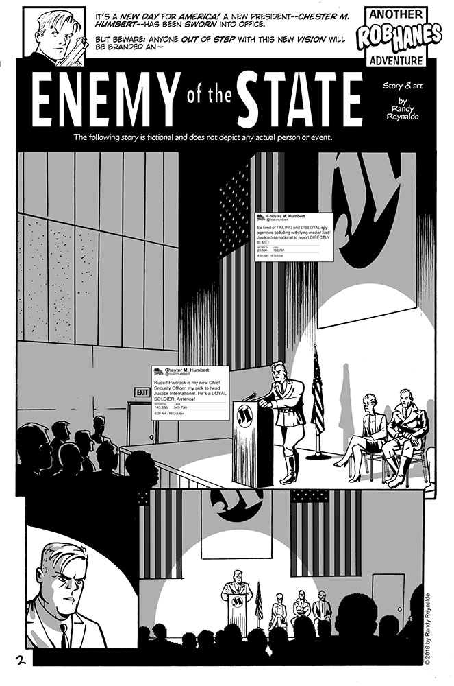 Sample page from Rob Hanes Adventures #19
