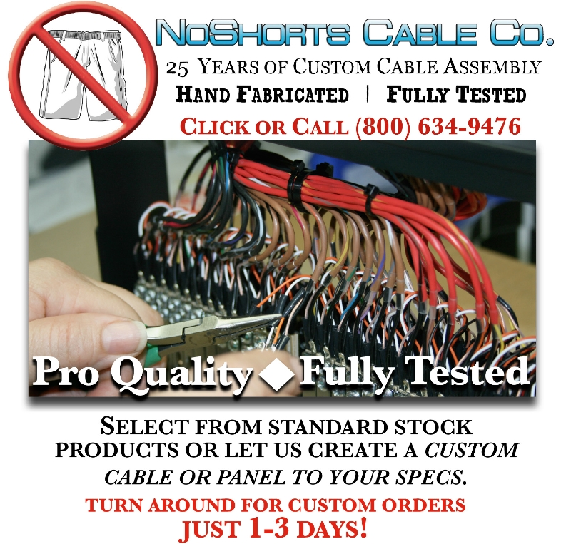 NoShorts Cable Co. Products at Pacific Radio