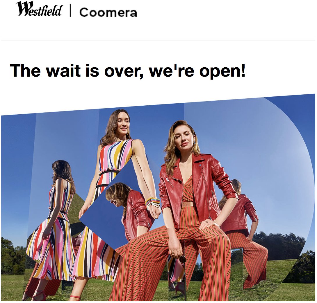 October Newsletter - Westfield Coomera Opening