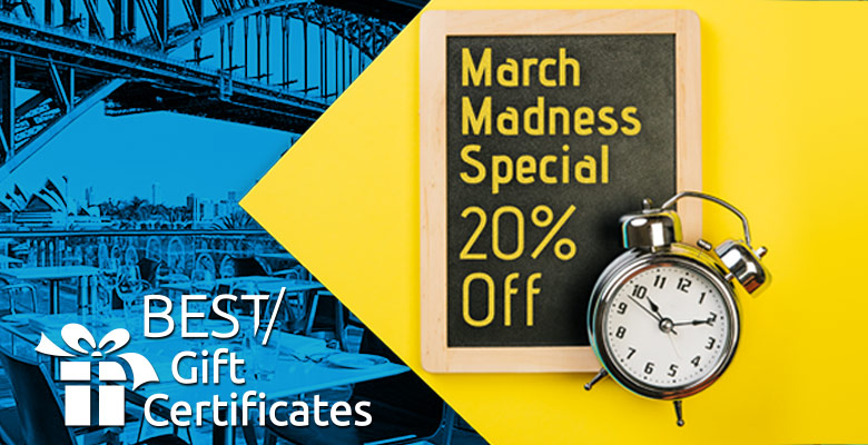 March madness 20% Off - Promo Code March2018