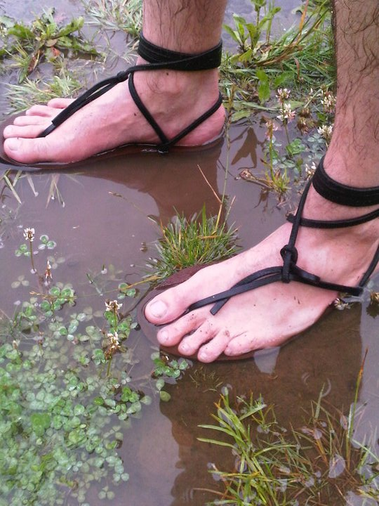 Benny Halevy getting wet in his Lunas