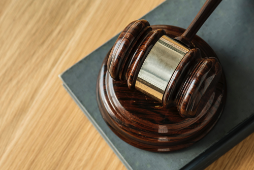 Photograph of a gavel.