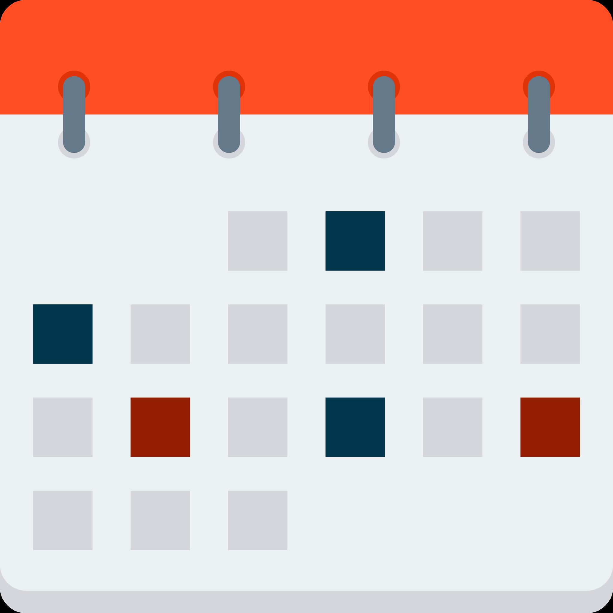 Vector graphic of a calendar.