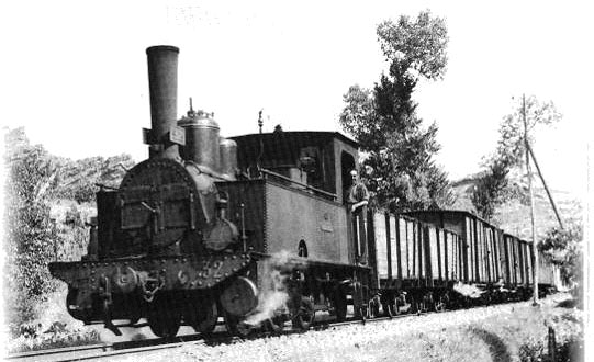 Oude stoomtrein in Argentinië
