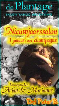Nieuwjaarssalon op 1 januari met champagne, DJ Peter B. en optreden arjan & Marianne