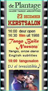 Kerst salon met film vooraf in De Plantage 23 dec. 2012